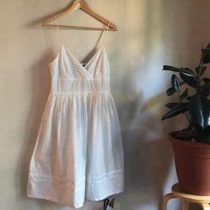 American Living white cotton pin tuck sundress